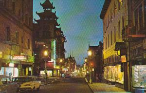 Chinatown At Night, Store Fronts, San Francisco, California, 1940-1960s