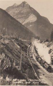 RP: Train , Connaugat Tunnels , Alberta , Canada , 1910-30s