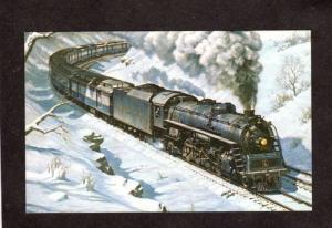 Baltimore and & Ohio  Railroad Train Locomotive 5567 Postcard Artist Signed