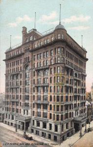 I.O.F. Temple, Bay and Richmond Streets, Toronto, Canada, Early Postcard, Used