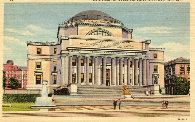 NY - New York City. Columbia University Library