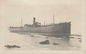 RP; KENNEBUNKPORT , Maine , 1921 ; Shipwreck of S.S. WANDBY #2