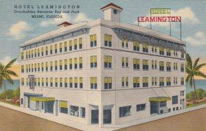 Florida Miami Hotel Leamington Curteich sk2594a
