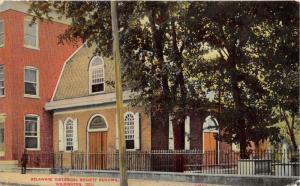 Wilmington Delaware~Delaware Historical Society Building~Man on Sidewalk~1911 PC