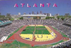The Atlanta Centennial Olympic Stadium Has A Seating Atlanta Georgia