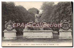 Postcard Old Saint Cloud Pediments The Veterans Park of the Industry Palace