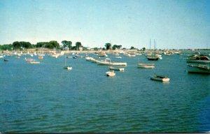 Massachusetts Scituate Harbor Boats In The Harbor 1970