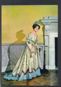 Fashion Postcard - Museum of Costume - c.1905 Ball Dress of Brocaded Satin T8361