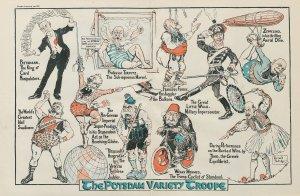 The Potsdam Variety Troupe Military Circus Stuntmen 1917 Antique War Theatre ...