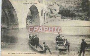 Old Postcard Gorges du Tarn Sainte Enimie Travel from Barques