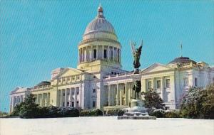 Snow Scene Of The Arkansas State Capitol Little Rock Arkansas