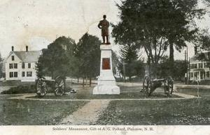 NH - Plaistow. Soldiers Monument (Pollard)    ***RPO- Portsmouth & Boston  RR