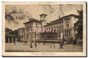 Switzerland Lausanne Old Postcard Palais de Rumine