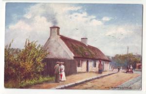 P435 JL tucks postcard ayr. burn,s cottage birthplace robert burns alloway