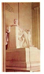 Lincoln Statue at Lincoln Memorial Postcard from American Oil Company 1969