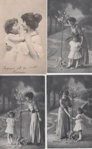 MOTHER AND CHILD GLAMOUR 46 REAL PHOTO Vintage Postcards pre-1940 (L3248)