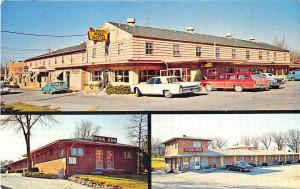 Des Moines IA McNeal Hi-Way Hotel_Motels Old Cars Postcard