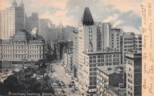 Broadway Looking South, New York City, N.Y., Early Postcard, Used in 1906