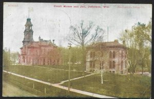 Court House & Jail Jefferson Wisconsin Used c1908