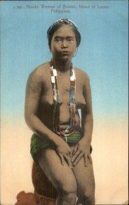 Philippines Nude Alzado Woman Bontoc Luzon c1910 Postcard
