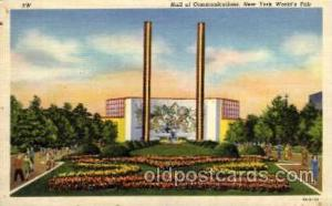 New York Worlds Fair 1939 exhibition postcard Post Card  Hall of Communications