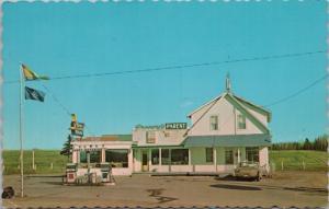 New Moon Restaurant Ste Anne de Madawaska NB New Brunswick Vintage Postcard E21