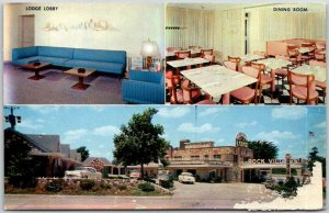 Springfield, Missouri Postcard ROCK VILLAGE LODGE Highway ROUTE 66 Roadside