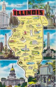 Map Of Illinois Multi View