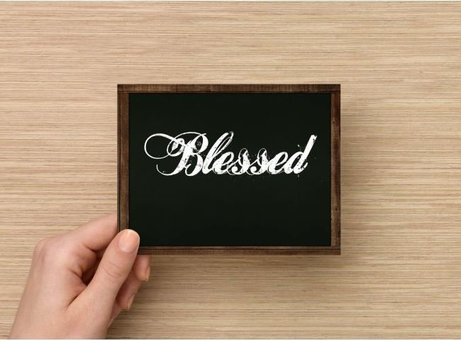 Set of 6  Postcards Blackboard Greetings - Blessed - Simple Expressions