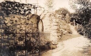 Hartford Wisconsin~Holy Hill Grotto Along Path~1907 Real Photo Postcard~RPPC