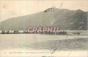 Old Postcard AIX-LES-BAINS Lake Bourget and the Dent du Chat
