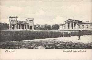 Munchen Konigsplatz Propylae Glyptothek