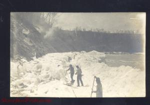 RPPC NIAGARA FALLS NEW YORK 1909 FROZEN WATERFALL REAL PHOTO