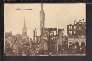 Destroyed L'Alhambra,Lille,France Postcard