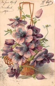 Fantasy Flowers Fleurs vase Greetings 1904