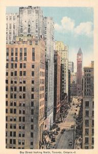 Toronto Ontario~Bay Street Downtown~Trusts & Guarantee Bldg~1920s Cars~Postcard