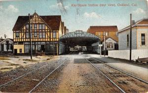 Oakland California Key Route Station Street View Antique Postcard K88056