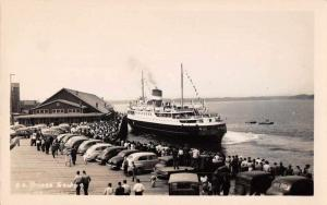 SS Prince George Leaving Pier August 1955 Real Photo Vintage Postcard JC932071