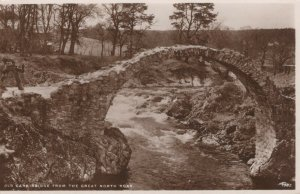 Scotland Postcard - Old Carr Bridge From The Great North Road   RS22768