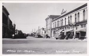 RP: Main Street , North , WOLSLEY , Saskatchewan , Canada , 1930-40s