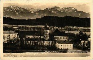 CPA AK Schloss Seeon mit Blick auf Hochgern und Hochfelln GERMANY (1035104)