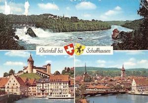 Switzerland Rheinfall bei Schaffhausen Bruecke, Bridge River Castle Chateau