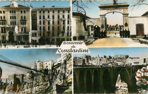 Algeria Constantine 1950s multi view semi modern postcard