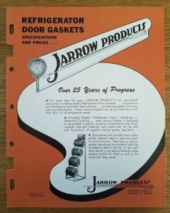 Vintage 1950s Jarrow Products Catalog and Price List Gaskets and Seals