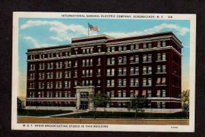 NY GE Company Co General Electric WGY Radio Studio Schenectady New York Postcard