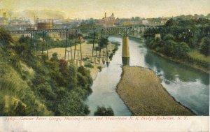 Rochester NY New York Rome & Watertown Railroad Bridge Genesee River Gorge - UDB