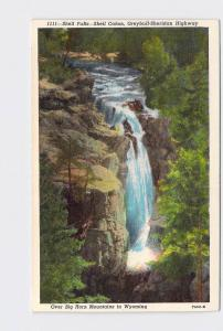 VINTAGE POSTCARD NATIONAL STATE PARK BIG HORN MOUNTAINS SHELL FALLS CANON