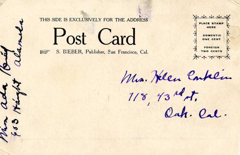 CA - San Francisco. April 1906 Earthquake & Fire. Phelan Monument