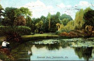 Florida Jacksonville Scene In Riverside Park 1908