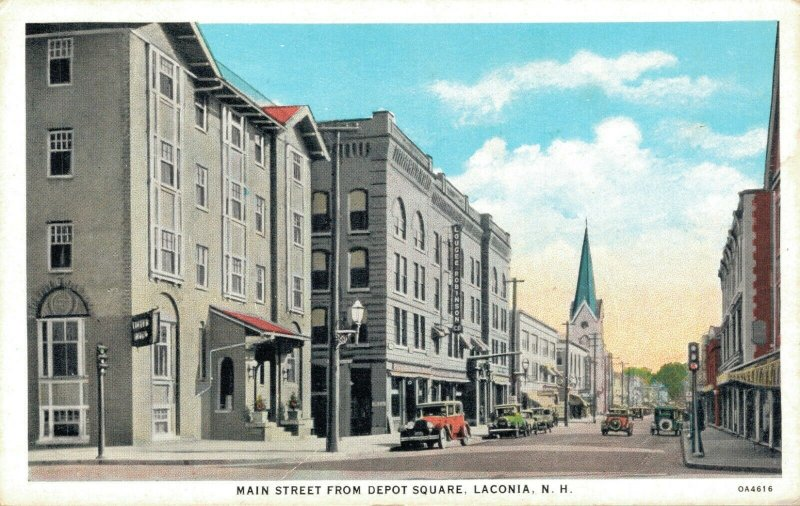 USA Main Street From Depot Square Laconia 04.98